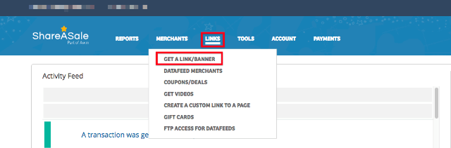 Get your ShareASale Affiliate Link