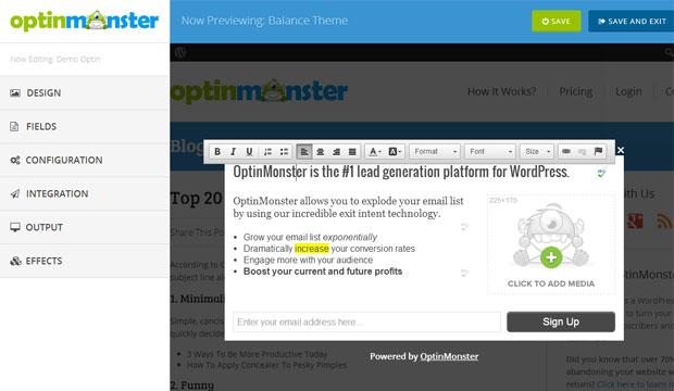 OptinMonster v2 Customizer