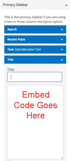 SidebarWidget-Code