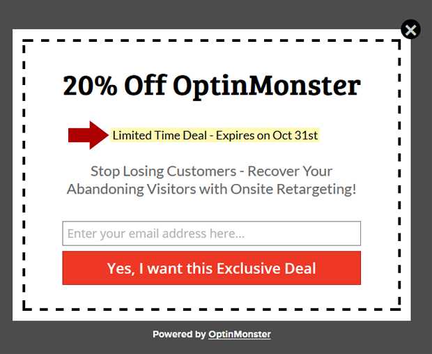 Urgency Coupon Popup