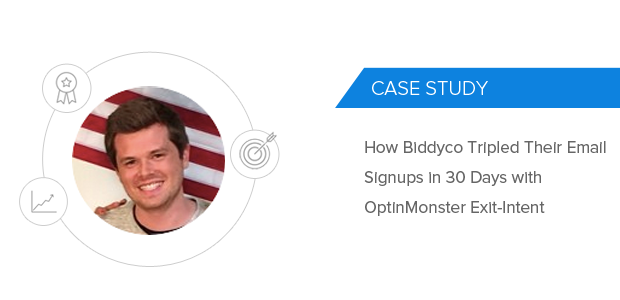 Biddyco OptinMonster Case Study