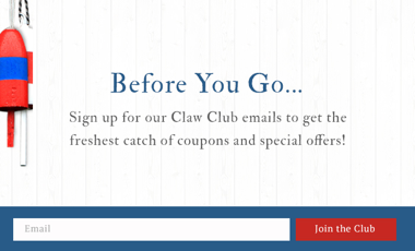 This pop-up performed at a 5.59% conversion rate for website visitors