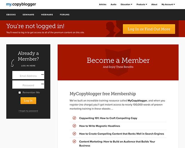 Copyblogger Membership Area