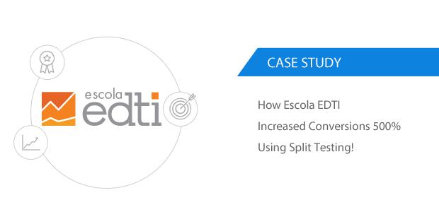 Escola EDTI Increased Conversions 500% Using Split Testing