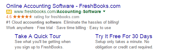 The first point of conversion for Freshbooks is often a Pay-Per-Click campaign.