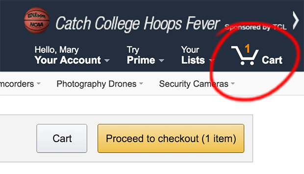 Amazon Cart Icon