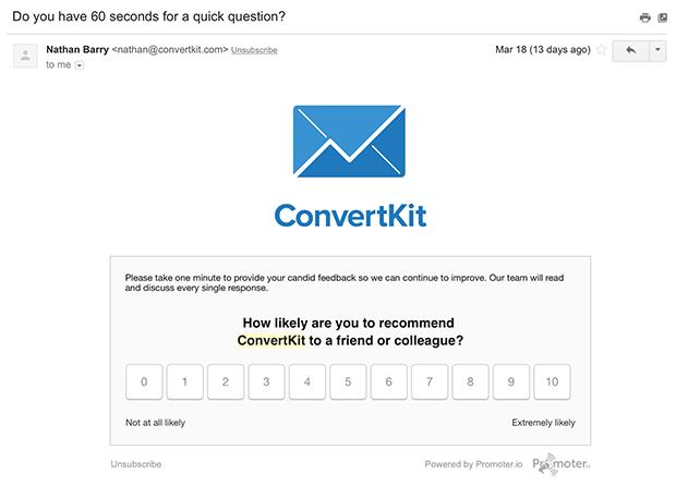 ConvertKit Feedback Email
