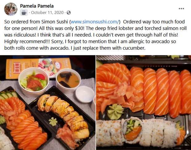 example of facebook testimonial