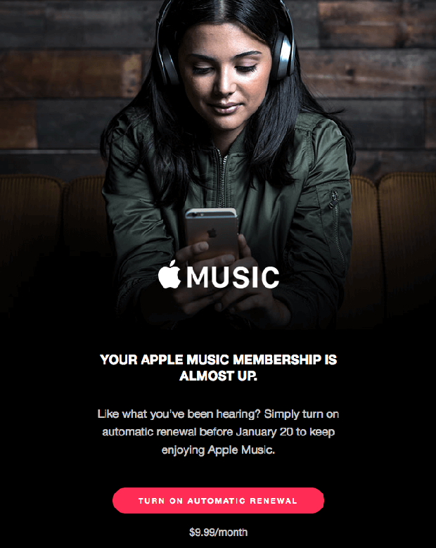 Expiration Apple Music Email