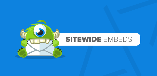 Sitewide Embed Announcement