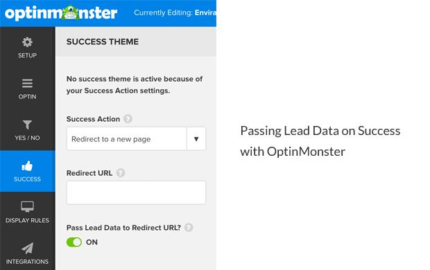 OptinMonster Pass Lead Data on Success