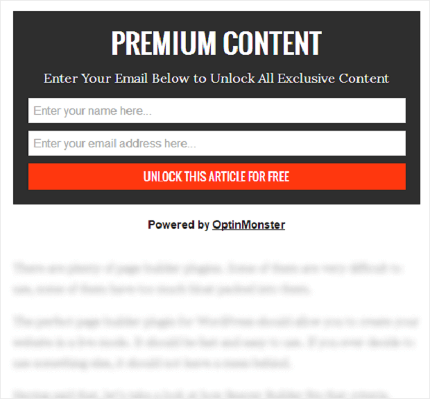 content locking example to show how to grow your email list