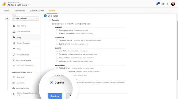 Create a Custom Goal in Google Analytics.