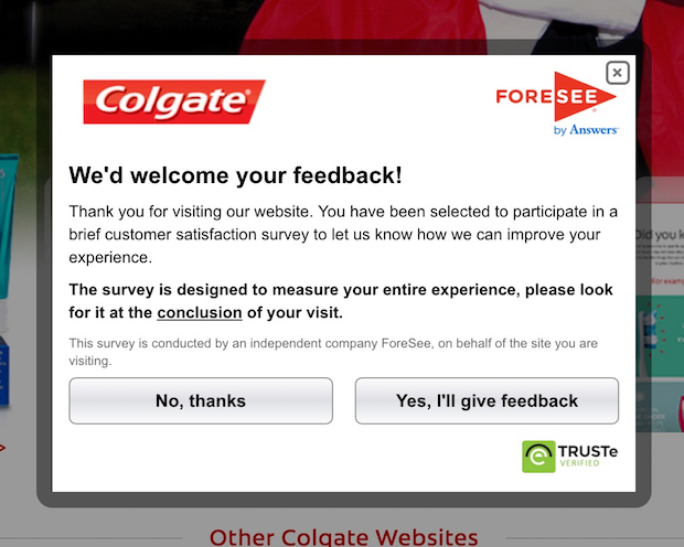 colgate 2nd popup