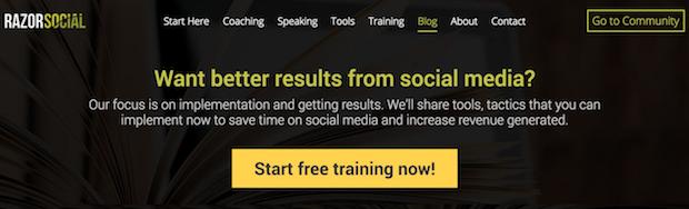 razor social feature box