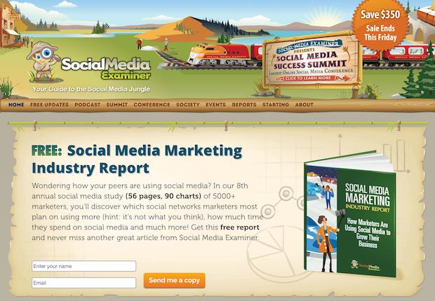 social media examiner feature box