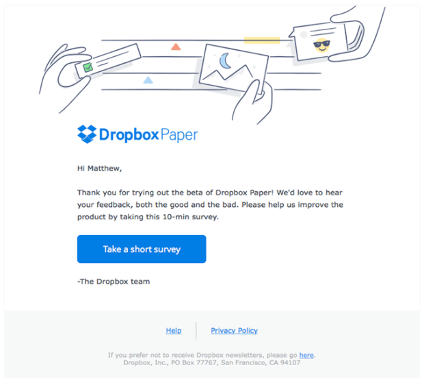 dropbox-survey-email