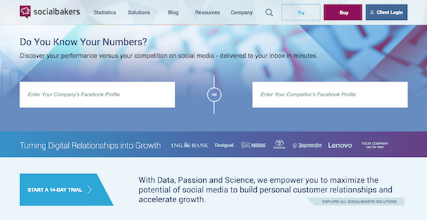 social marketing tools - socialbakers