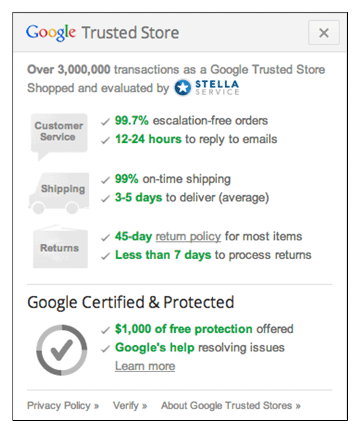google-trust-test-results