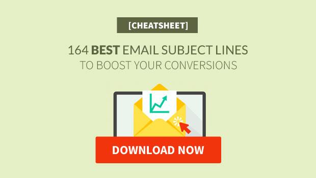 Best Email Subject Lines Cheatsheet