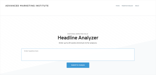emv headline analyzer tool