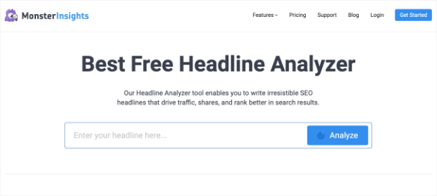 monster insights headline analyzer