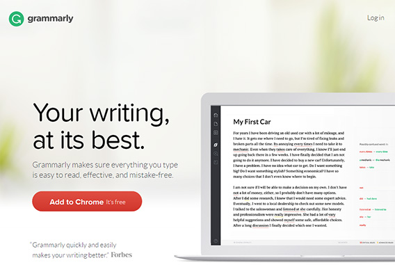 you can use Grammarly to check your grammar