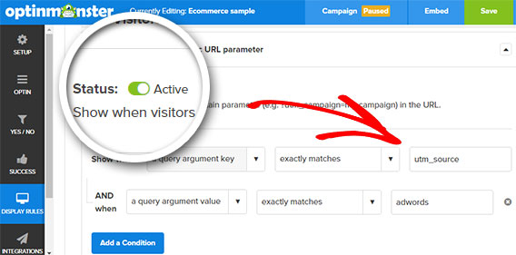 using campaign parameter to boost roi of ppc campaigns with optinmonster