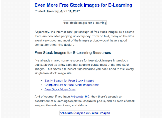 Example Email Using Alt Text to Increase Email Conversions