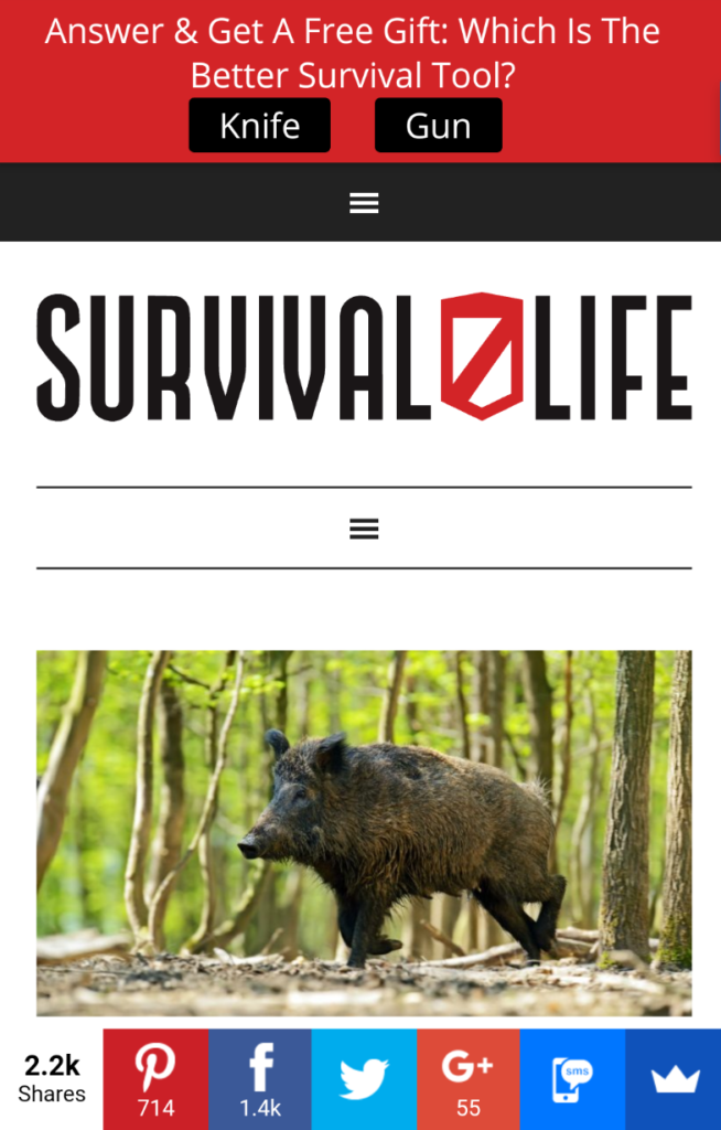 Survival Life Mobile Optin
