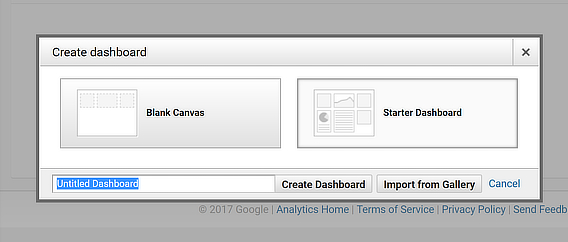 starter google analytics dashboard