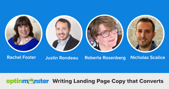writing landing page copy experts