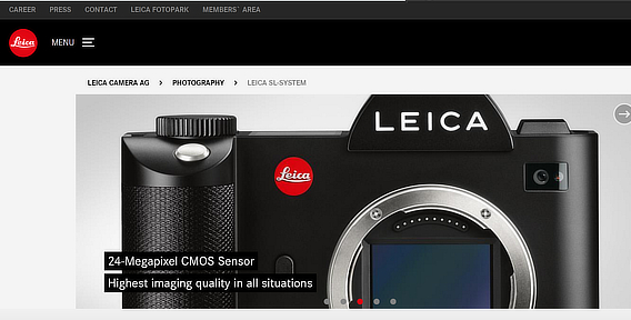 leica ecommerce product photo