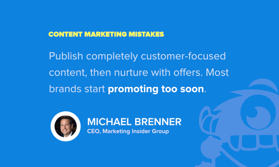 michael brenner content marketing mistakes