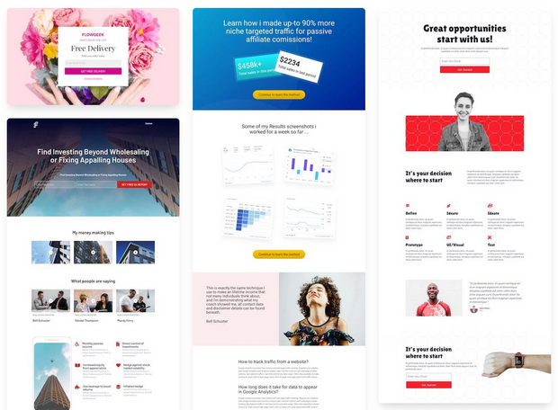 seedprod ecommerce landing page templates