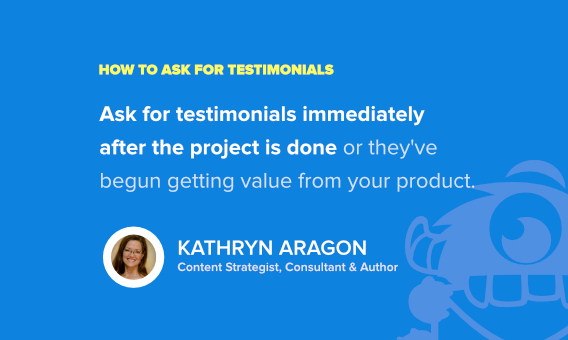 how to ask for testimonials - kathryn aragon