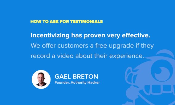 best way to ask for a testimonial - gael breton