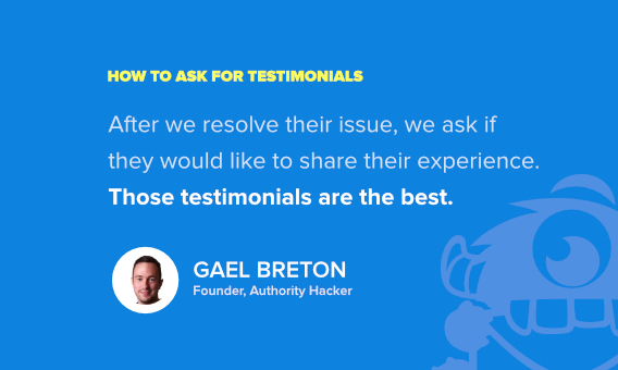 how to ask someone to write a testimonial for you - gael breton 2