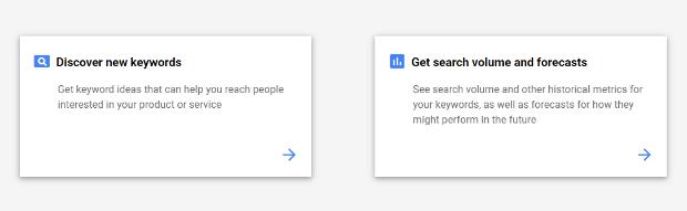 google ads find new keywords