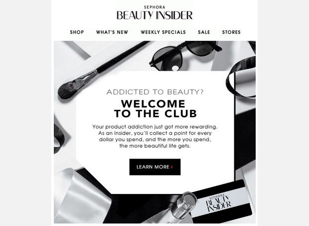 sephora beauty insider ecommerce email ideas