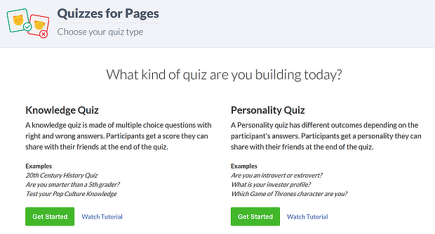 facebook quiz tool