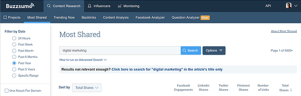 search buzzsumo