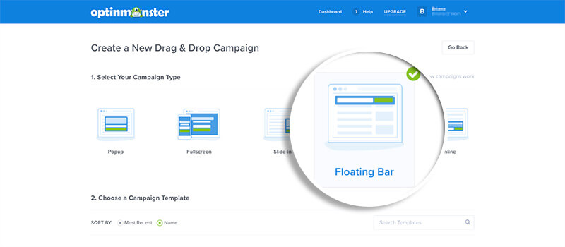 Choose Floating Bar