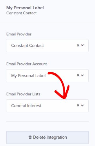 om choose email list
