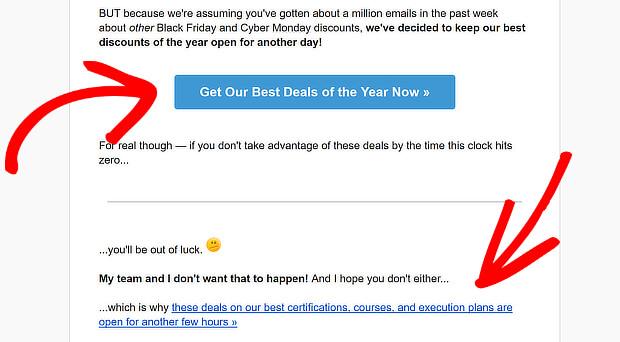 dm email newsletter cta