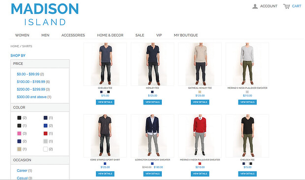 madison island ecommerce personalization