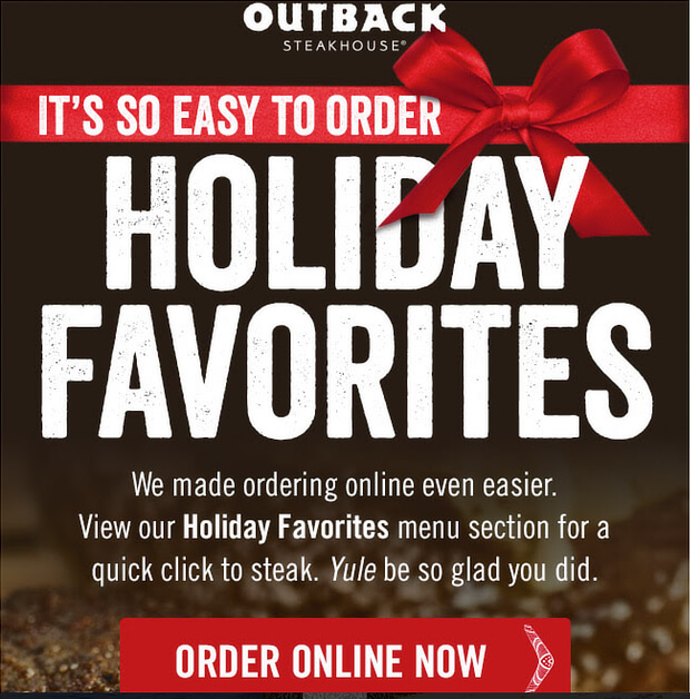 outback email newsletter design example 1