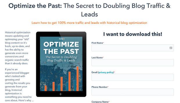 retargeting marketing example hubspot