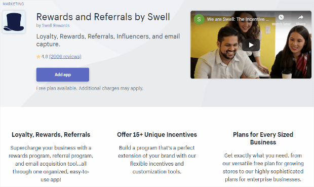 rewards and referrals by swell ARE swell