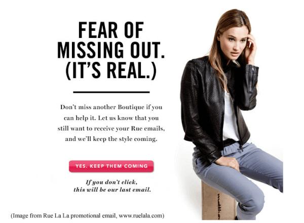 ruelala fomo marketing examples
